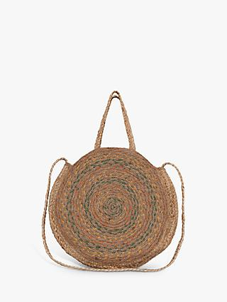 Great Plains Tia Round Raffia Bag, Neutral