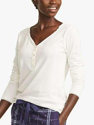 FatFace Lily Lace Trim Henley Pyjama Top