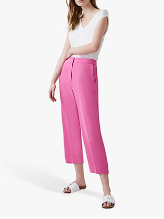 Great Plains Crepe Trousers, Pop Pink