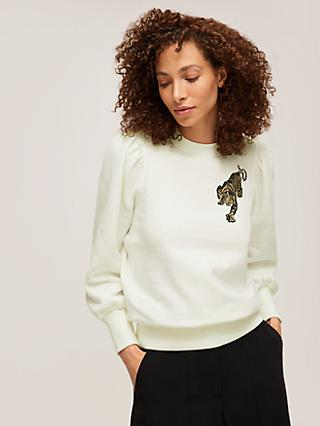 Somerset by Alice Temperley Embroidered Sweatshirt, Ecru
