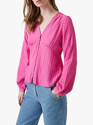 Great Plains Gina Top, Pop Pink