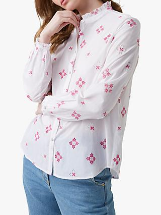Great Plains Chintz Cotton Shirt, Milk/Pink Pop