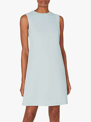 Goat Lois Wool Sleeveless Shift Dress, Light Blue