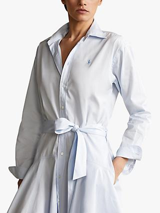 Polo Ralph Lauren Long Sleeve Casual Shirt Dress, Beryl Blue