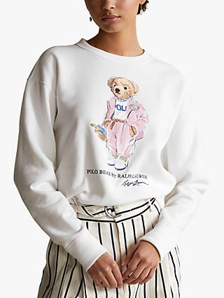 Polo Ralph Lauren Picnic Polo Bear Sweatshirt, White