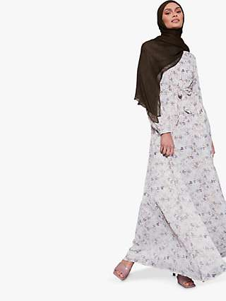 Aab Whimsical Floral Print Maxi Shirt Dress, Multi