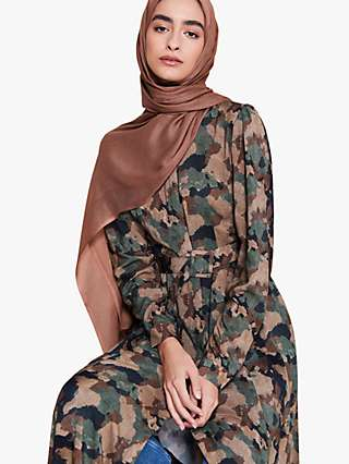 Aab Earth Print Maxi Shirt Dress, Camo