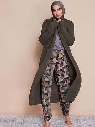 Aab Earth Print Slim Leg Trousers, Camo