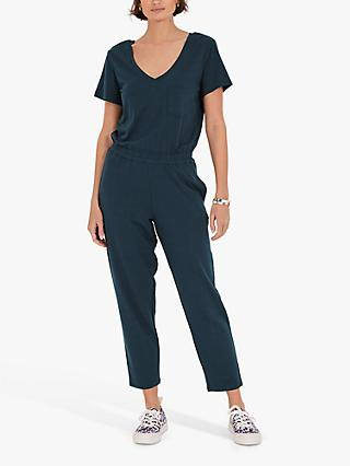 hush V-Neck Jersey Jumpsuit, Midnight