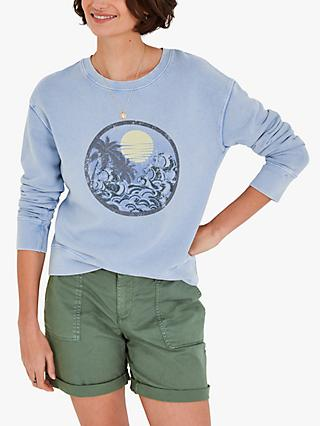 hush Summer Waves Sweatshirt, Washed Blue
