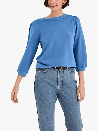 hush Tiffany Cotton Sweatshirt, Washed Blue