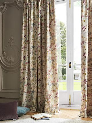 Voyage Ilinizas Pair Lined Pencil Pleat Curtains, Poppy