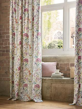 Voyage Country Hedgerow Pair Lined Pencil Pleat Curtains, Lotus