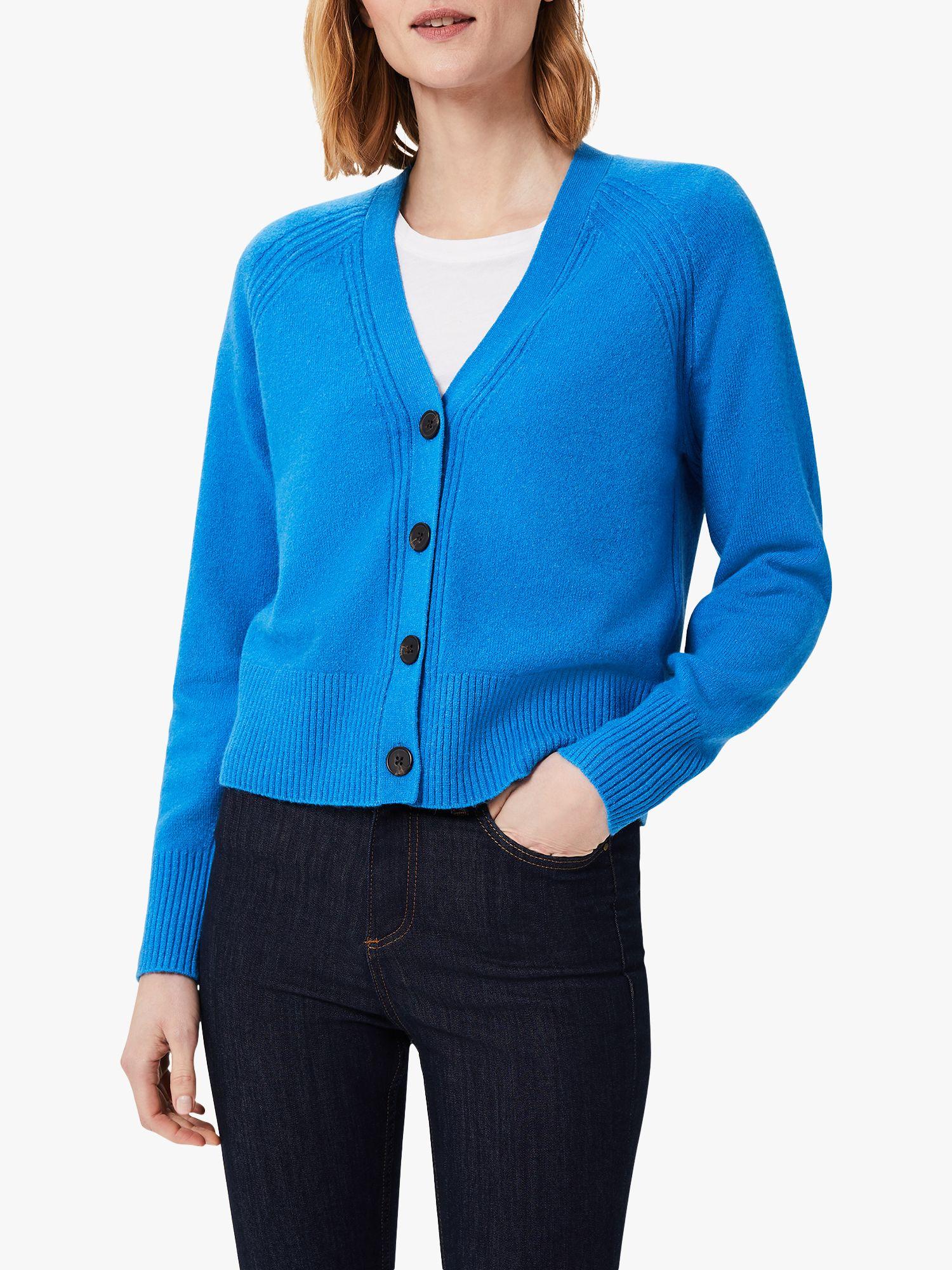 Cobalt blue V neck cardigan