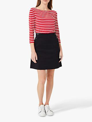 Hobbs Jordan Button Mini Skirt, Navy