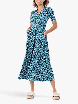 Jolie Moi Molly Geo Print Maxi Dress, Blue