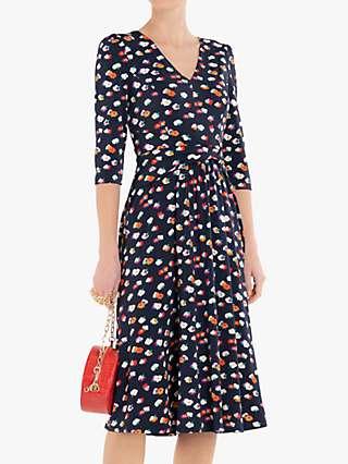 Jolie Moi Annette Jersey Midi Dress, Navy Floral