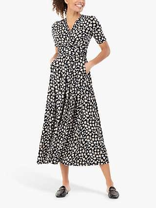 Jolie Moi Jenny Animal Print Maxi Dress, Black/Multi