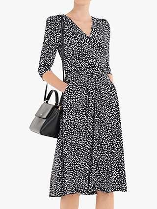 Jolie Moi Annette Jersey Midi Dress, Black Geo