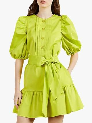 Ted Baker Sofiiia Mini Dress, Bright Green