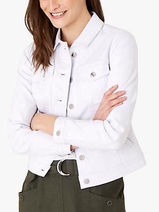 Monsoon Willow Denim Jacket, White