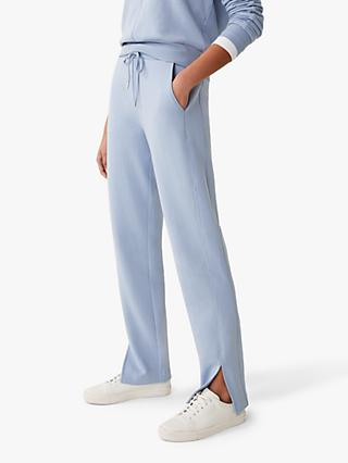 Jigsaw Luxe Drawstring Trousers, Surf Blue