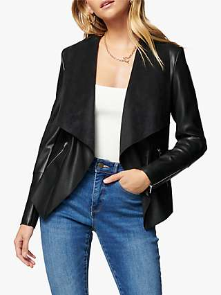 Forever New Louise Waterfall Jacket, Black