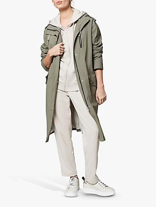 Mint Velvet Parka Trench Coat, Green