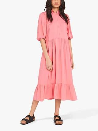 Finery Kyra Tiered Midi Dress
