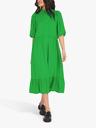 Finery Kyra Tiered Midi Dress