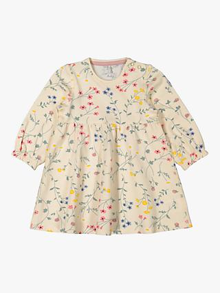 Polarn O. Pyret Baby GOTS Organic Cotton Floral Dress, Multi