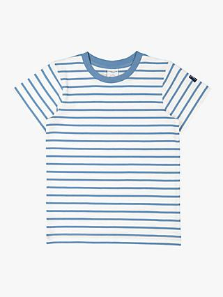 Polarn O. Pyret Kids' GOTS Organic Cotton Striped Tee