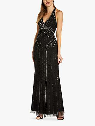 Hailey Logan by Adrianna Papell Beaded Mermaid Maxi Dress, Black
