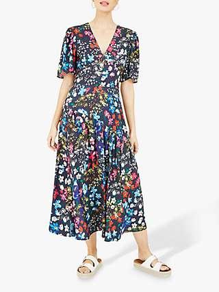 Yumi Floral Kimono Dress, Multi