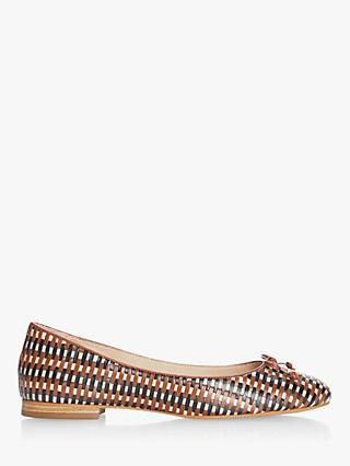 Dune Hopes Woven Leather Ballet Pumps