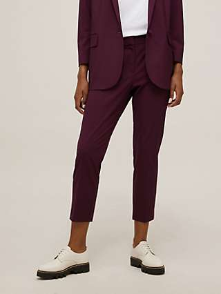 Theory Cropped Tailored Trousers, Mulberry