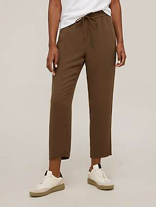 Theory Ribbed Jogger Tailored Trousers, Cedar