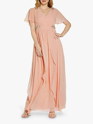 Adrianna Papell Embellished Detail Maxi Gown