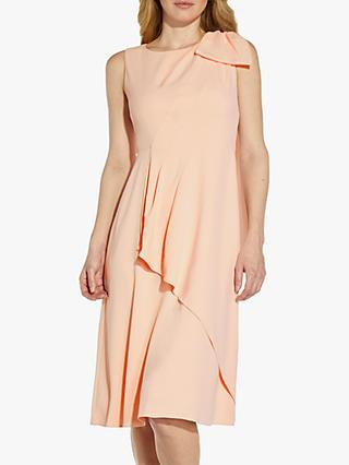 Adrianna Papell Divine Bow Detail Dress, Mellow Blush