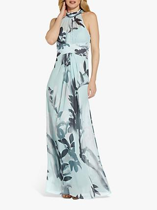 Adrianna Papell Floral Halterneck Gown, Multi