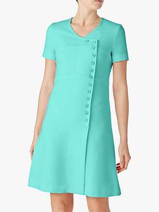 Goat Lara Wool Short Sleeve Shift Dress, Mint
