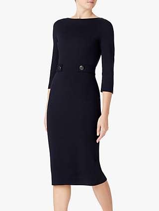 Goat Loretta Jersey Pencil Dress, Dark Navy