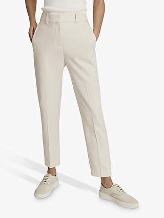 Reiss Ember Slim Leg Trousers, Cream