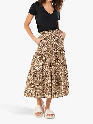 Jolie Moi Sara Animal Print Midi Skirt