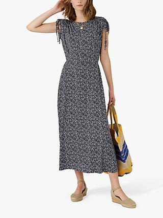 Brora Dapple Print Midi Dress, Navy