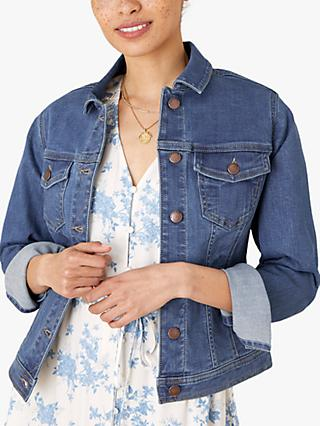 Monsoon Organic Cotton Blend Jacket, Denim Blue