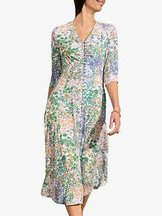 The Fold Lochaline Botanical Print Midi Dress, Multi