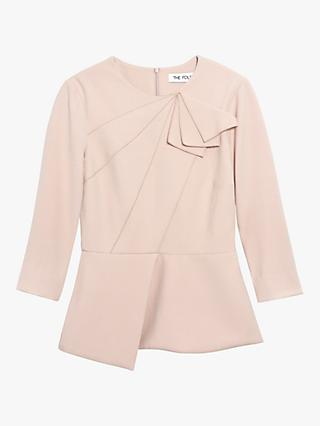 The Fold Amesbury Stretch Crepe Top, Blush