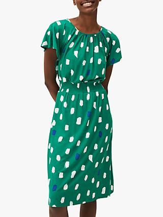 Phase Eight Pia Spot Dress, Green