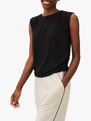 Phase Eight Liana Sleeveless Jersey Top, Black